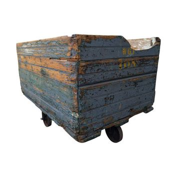 Pre-owned Industrial Wooden Factory Cart