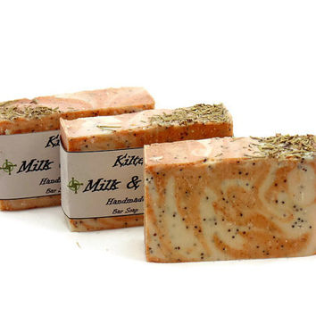 Milk Rosemary Soap, Goat Milk Soap, Rosemary Goat Milk Soap