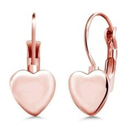 18kt Plated Bubble Heart Earrings - 3 Finishes