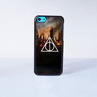 Harry Potter Death Hallow Plastic Case Cover for Apple iPhone 5C 6 Plus 6 5S 5 4 4s