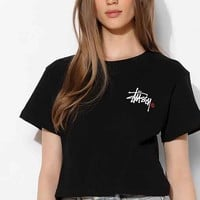 Stussy For UO Logo Cropped Tee- Black