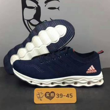 Adidas Boots Running Sport Casual Shoes Sneakers knit navy blue