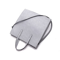 Gray Structured Tote Bag