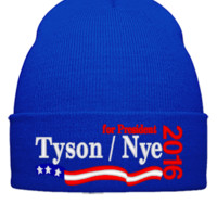 Tyson / Nye 2016 embroidery hat - Beanie Cuffed Knit Cap