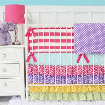 Rainbow Bright Crib Bedding Set