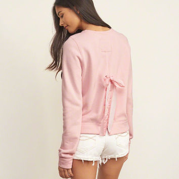 Lace-up Back Sweatshirt