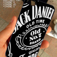 Jack Daniels Whiskey for iPhone 4 / 4s or 5 case cover, Black or White