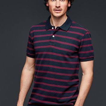 Even Stripe Pique Polo