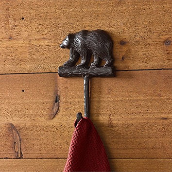 Lodge and Cabin Cast Metal Wall Hook (Bear)