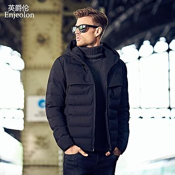 hoodies Cotton Padded Jacket coat Men black Parka coat Thick Quilted fashion Coat