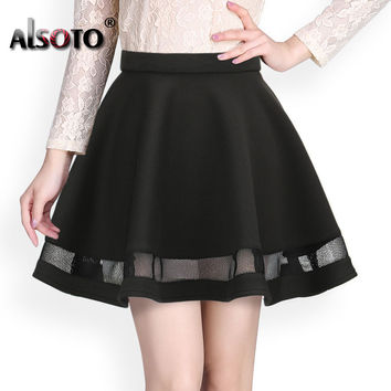 Fashion Grid Design women skirt