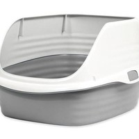 Petmate Stay Fresh Rimmed Litter Pan Box Size: Large