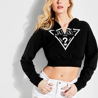 Davina Logo Cropped Hoodie at Guess