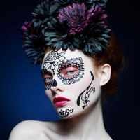 Face Lace Halloween Day of the Dead Rosa