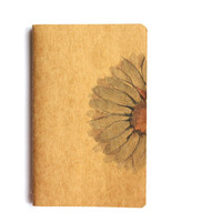 Margarida Flower on Moleskine Notebook - Original drawing - Ink / hand-painted by Cristina Ripper