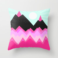 A sunny day Throw Pillow by Elisabeth Fredriksson | Society6