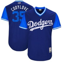 """Men's Los Angeles Dodgers Cody Bellinger """"Codylove"""" Majestic Navy 2017 Players Weekend Authentic Jersey"""