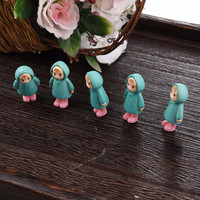 5PCS/Set Mini Girl Fairy Garden Figurines Miniature Resin Crafts Ornament Ornament Gnomes Moss Terrariums Home Decorations