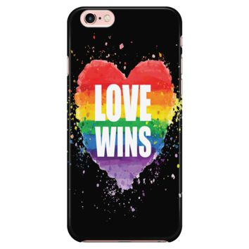 LGBT iPhone Case Rainbow Love Wins Rainbow Heart