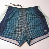 Victoria's Secret Pink Blue Mint Polka Dots Track Athletic Running Shorts / Large