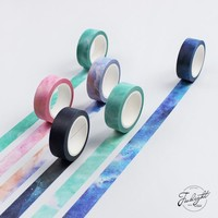 1.5cm*7M The Fantastic Dream Color Decorative Washi Tape DIY Scrapbooking Masking Craft Tape School Office Supply