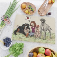 I love dogs Cutting Board by savousepate