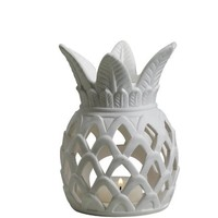 Biedermann & Sons Porcelain Pineapple Tealight Candle Holder