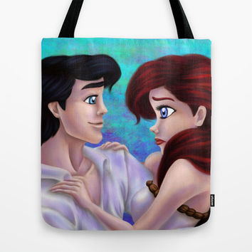Ariel and Eric Tote Bag by Kimberly Castello