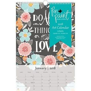 Pen and Paint Art Wall Calendar, Architecture | Design by Leap Year Publishing
