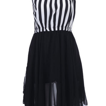 Single Shoulder Striped Dress [NCSKD0279] - $45.79 :
