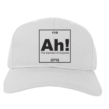 Ah the Element of Surprise Funny Science Adult Baseball Cap Hat by TooLoud