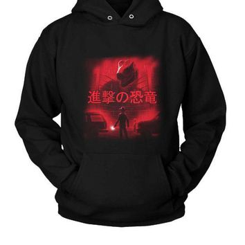 Attack On Dinosaur Hoodie Two Sided