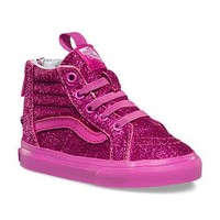 Toddlers Shimmer SK8-Hi Zip | Shop Girls Shoes at Vans