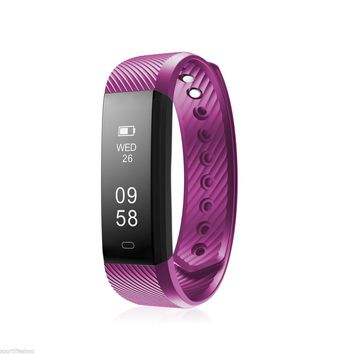 Economical OLED Smart Bluetooth Smart Bracelet - Fitness Tracker and Heart Rate Monitor