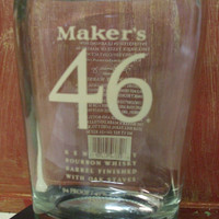 20 oz Pure Soy Candle in Reclaimed Makers Mark 46 Liquor Bottle - Your Choice of Scent