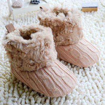 Winter Warm Walkers Baby Ankle Boots Crochet Knit Shoes / 7 color choices