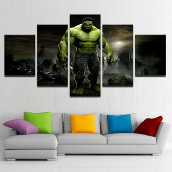 5 Pieces Hulk Movie Modular Pictures Framework Artwork Poster - Selections