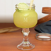 Redneck Mason Jar Margarita Glass