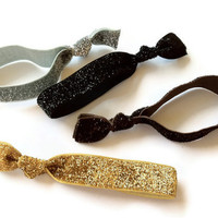 Glamour Collection Glitter Hair Ties Set of 4 by SweetTiesHairTies