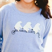 Poketo Bears on Bikes Pullover - Women