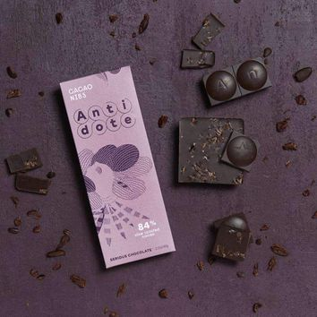 Antidote Chocolate - Gaia: Cacao Nibs 84% raw cocoa+roasted cacao