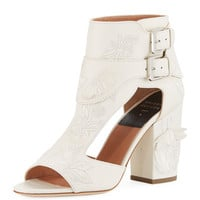 Laurence Dacade Rush Embroidered Leather Sandal