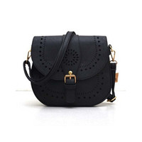 Small Casual Women Messenger Bags PU Hollow Out Crossbody Bags Ladies Shoulder Purse and Handbags Bolsas Feminina