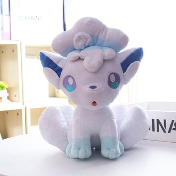 Ice Vulpix plush toys kid doll for children gift stuffed soft cute anime pikachu Childhood memories birthday present