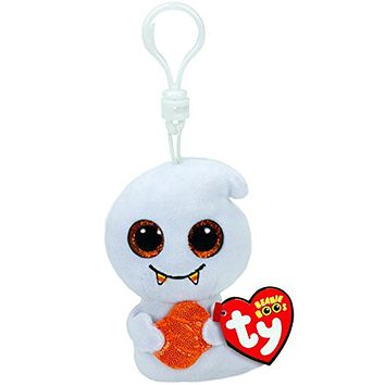 "Ty Beanie Boos 4"" 10cm Scream Halloween Ghost Plush Clip Keychain Stuffed Collectible Big Eyes Doll Toy"