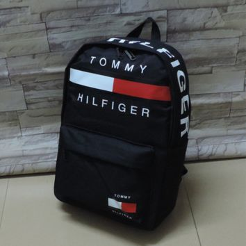 ''Tommy'' Hilfiger Casual Sport Laptop Bag Shoulder School Bag Backpack