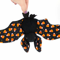Halloween Themed Bat Stuffed Animal with Candy Corns Cute Plush Toy