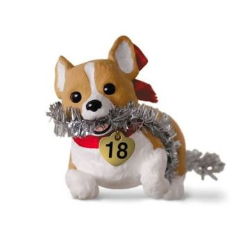 Puppy Love Welsh Corgi 2018 Ornament