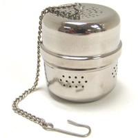 "Chrome Tea Ball Infuser - 1.5"" Tall by 1.25"" Wide"