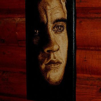Draco Malfoy woodburned home decoration